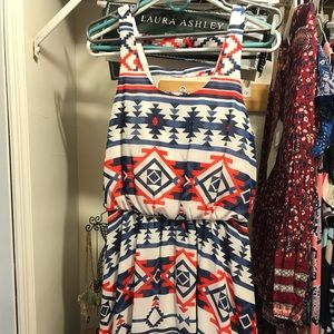 Red and blue tribal dress. Juniors medium.